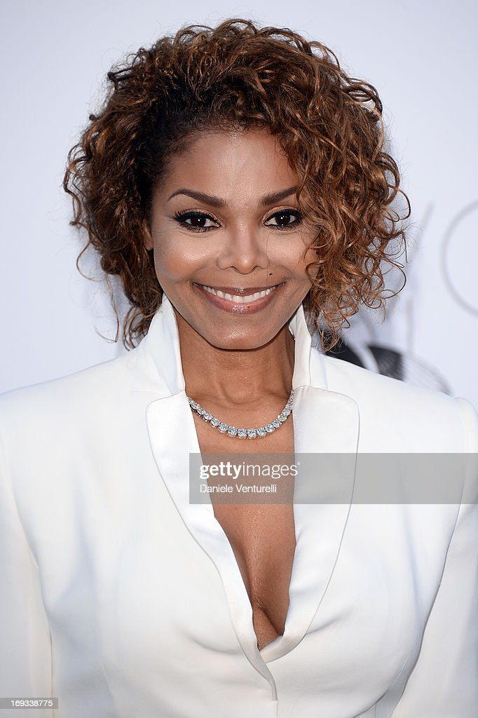 <a gi-track='captionPersonalityLinkClicked' href=/galleries/search?phrase=Janet+Jackson&family=editorial&specificpeople=156414 ng-click='$event.stopPropagation()'>Janet Jackson</a> attends amfAR's 20th Annual Cinema Against AIDS during The 66th Annual Cannes Film Festival at Hotel du Cap-Eden-Roc on May 23, 2013 in Cap d'Antibes, France.