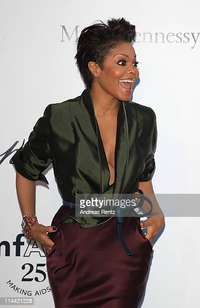 Janet Jackson attends amfAR's Cinema Against AIDS Gala during the 64th Annual Cannes Film Festival at Hotel Du Cap on May 19 2011 in Antibes France
