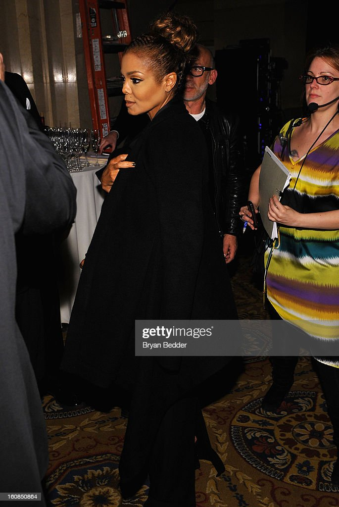 Janet Jackson attends the amfAR New York Gala to kick off Fall 2013 Fashion Week at Cipriani Wall Street on February 6, 2013 in New York City.