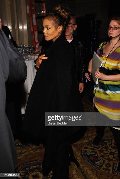 Janet Jackson attends the amfAR New York Gala to kick off Fall 2013 Fashion Week at Cipriani Wall Street on February 6 2013 in New York City