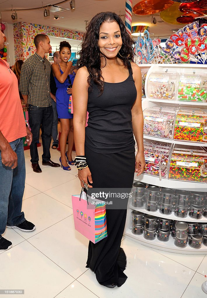 Janet Jackson attends the Dylan's Candy Bar Los Angeles Opening at Original Farmers Market on September 8, 2012 in Los Angeles, California.