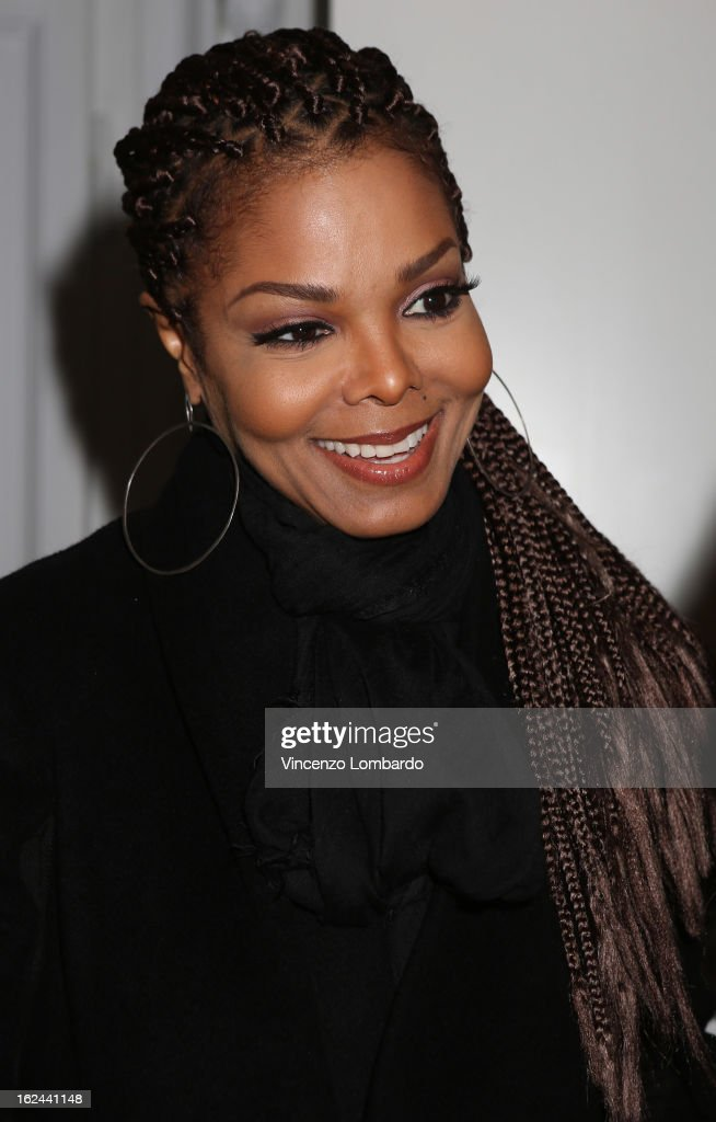 <a gi-track='captionPersonalityLinkClicked' href=/galleries/search?phrase=Janet+Jackson&family=editorial&specificpeople=156414 ng-click='$event.stopPropagation()'>Janet Jackson</a> attends the Giuseppe Zanotti Design Presentation during Milan Fashion Week Womenswear Fall/Winter 2013/14 on February 23, 2013 in Milan, Italy.