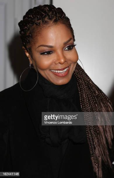 Janet Jackson attends the Giuseppe Zanotti Design Presentation during Milan Fashion Week Womenswear Fall/Winter 2013/14 on February 23 2013 in Milan...