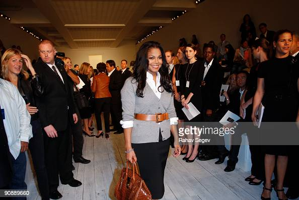 Janet Jackson attends the Ralph Lauren Collection Spring 2010 during MercedesBenz Fashion Week at Skylight Studios on September 17 2009 in New York...