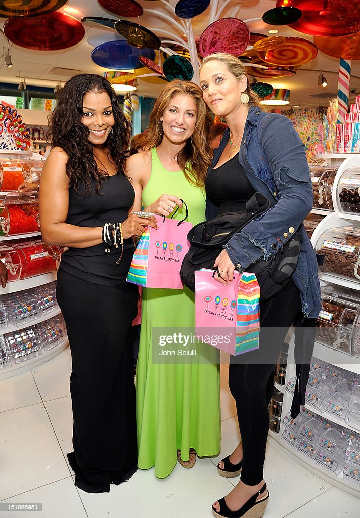 Janet Jackson, CEO/Founder Dylan Lauren and Elizabeth Berkeley attend the Dylan's Candy Bar Los Angeles Opening at Original Farmers Market on September 8, 2012 in Los Angeles, California.
