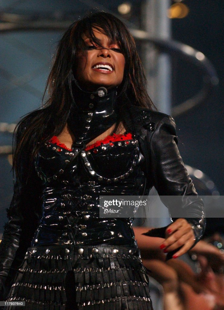 Janet Jackson during The AOL TopSpeed Super Bowl XXXVIII Halftime Show Produced by MTV at Reliant Stadium in Houston, Texas, United States.