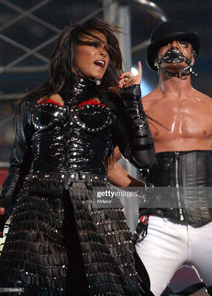 <a gi-track='captionPersonalityLinkClicked' href=/galleries/search?phrase=Janet+Jackson&family=editorial&specificpeople=156414 ng-click='$event.stopPropagation()'>Janet Jackson</a> during The AOL TopSpeed Super Bowl XXXVIII Halftime Show Produced by MTV at Reliant Stadium in Houston, Texas, United States.