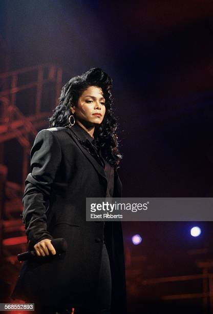 Janet Jackson performing at Madison Square Garden in New York City on March 16 1990