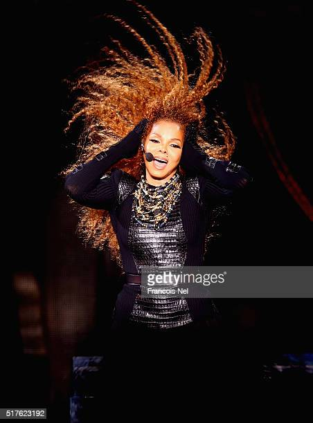 Janet Jackson performs after the Dubai World Cup at the Meydan Racecourse on March 26 2016 in Dubai United Arab Emirates