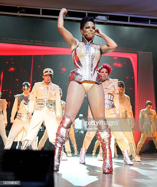 Janet Jackson performs during the 2010 Essence Music Festival at the Louisiana Superdome on July 2 2010 in New Orleans Louisiana
