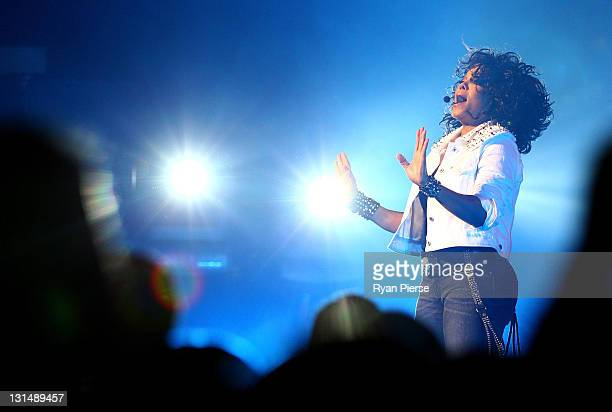 Janet Jackson performs live on stage at the Sydney Opera House on November 5 2011 in Sydney Australia