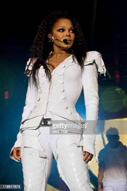 Janet Jackson performs on stage at Poble Espanyol on July 12 2011 in Barcelona Spain