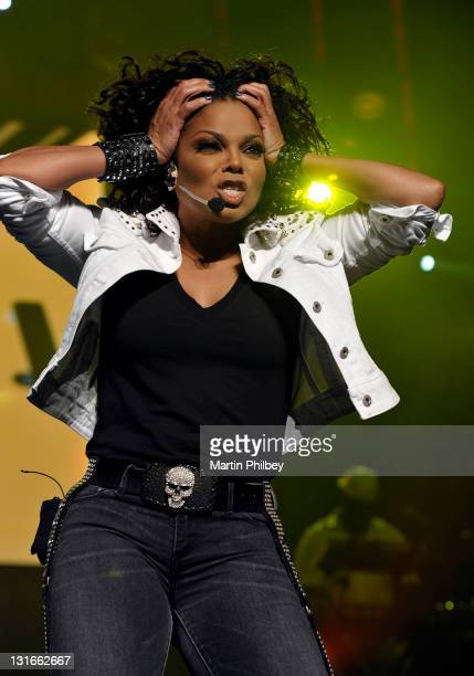 Janet Jackson performs on stage at the Rod Laver Arena on the 3rd November 2011 in Melbourne Australia