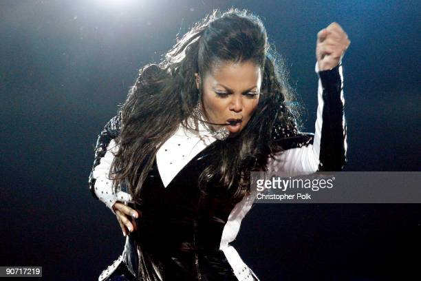 Janet Jackson performs onstage during the 2009 MTV Video Music Awards at Radio City Music Hall on September 13 2009 in New York City
