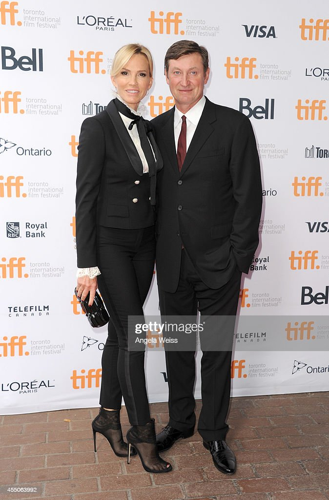 Janet Jones and NHL legend Wayne Gretzky attends the 'Red Army' premiere during the 2014 Toronto International Film Festival at Ryerson Theatre on...