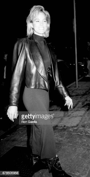 Janet Jones attends John McEnroe Birthday Party on February 17 1986 at On The Rox in Hollywood California