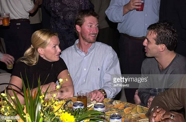Janet Jones Gretzky Wayne Gretzky and Chris Chelios