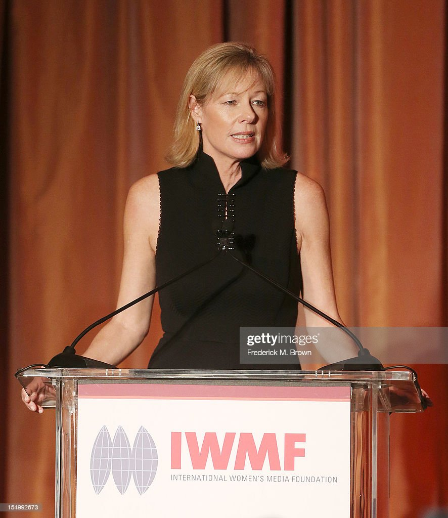 Janet Lamkin speaks the 2012 International Women's Media Foundation's Courage In Journalism Awards at The Beverly Hills Hotel on October 29, 2012 in Beverly Hills, California.