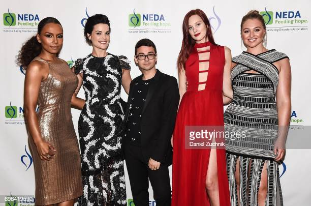 Janet Mock Jaimie Alexander Christian Siriano Jasmine Poulton and Iskra Lawrence attend the 15th Annual Benefit Gala 'An Evening Unmasking Eating...