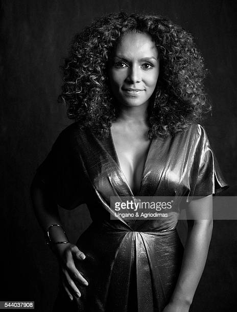 Janet Mock poses for a portrait at Logo's 'Trailblazer Honors' on June 23 in the Cathedral of St John the Divine in New York City