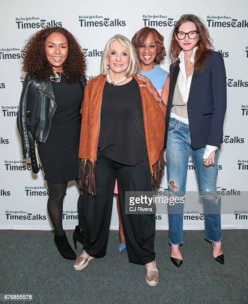 Janet Mock Sheila Nevins Gayle King and Jenna Lyons attend Times Talks in Conversation at New York Society for Ethical Culture on May 2 2017 in New...