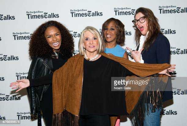 Janet Mock Sheila Nevins Gayle King and Jenna Lyons Times Talks in Conversation Sheila Nevins with Gayle King Jenna Lyons and Janet Mock at New York...