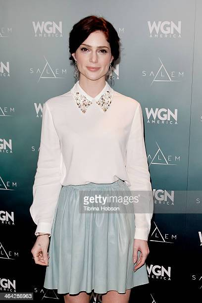Janet Montgomery attends WGN America presents it's first original scripted series 'Salem' at Winter TCA at Langham Hotel on January 12 2014 in...