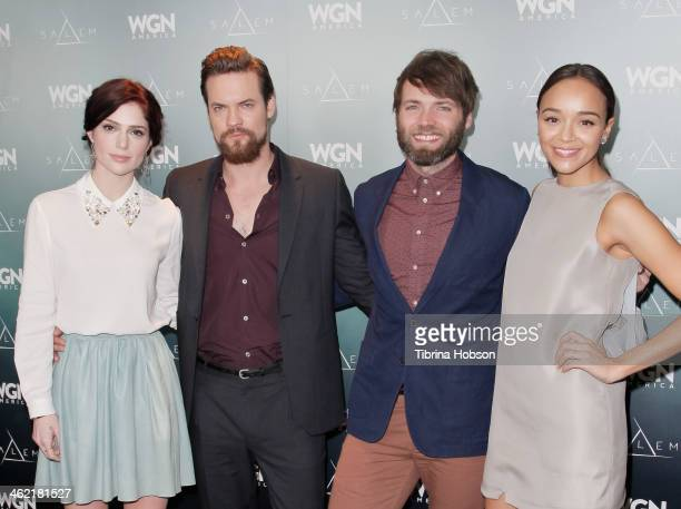 Janet Montgomery Shane West Seth Gabel and Ashley Madekwe attend WGN America presents it's first original scripted series 'Salem' at Winter TCA at...