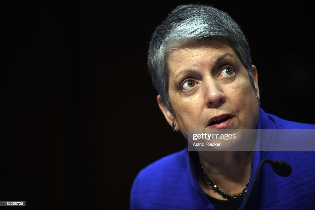 <a gi-track='captionPersonalityLinkClicked' href=/galleries/search?phrase=Janet+Napolitano&family=editorial&specificpeople=589781 ng-click='$event.stopPropagation()'>Janet Napolitano</a>, president of the University of California, speaks during a hearing of the Senate Health, Education, Labor, and Pensions Committee on July 29, 2015 in Washington, DC. The committee is examining the reauthorization of the Higher Education Act, focusing on combating campus sexual assault.