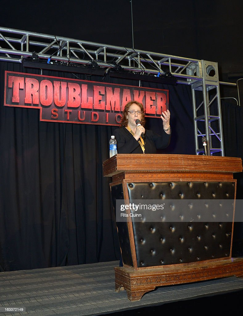 Janet Pierson, producer SXSW Film Festival speaks at the Private Filmmaker Luncheon during the 2013 SXSW Music, Film + Interactive Festival at Troublemaker Studios on March 8, 2013 in Austin, Texas.