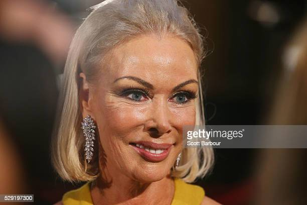 Janet Roach from The Real Housewives of Melbourne arrives at the 58th Annual Logie Awards at Crown Palladium on May 8 2016 in Melbourne Australia