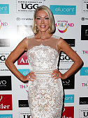Janet Roach from the Real Housewives of Melbourne attends the Miss World Australia 2016 National Final at Crown Palladium on July 22 2016 in...