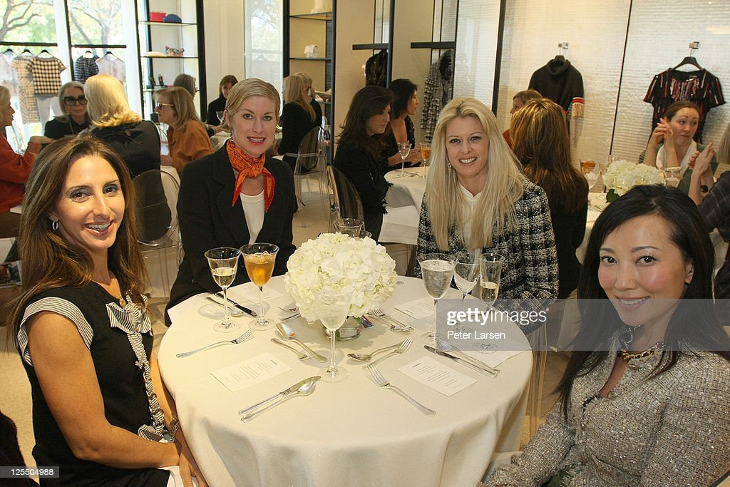 Janet Rosell Rice, Robin Ladik, Christine Handy and Tina Craig attend the Jamee Gregory Book Signing Event at Chanel Boutique Dallas on December 2, 2010 in Dallas, Texas.