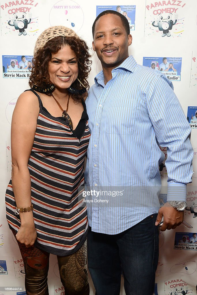 Janet Rousseau and Kente Scott attend the 3rd Annual Paparazzi Comedy Awards Supporting Autism Awareness on April 4, 2013 in Los Angeles, California.