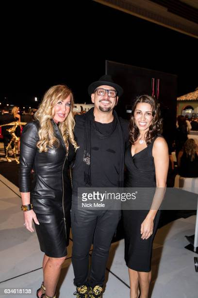 Janet Steinger Jeff Fowler and Shamin Abas attend JET AVIATION'S 17th Annual LA BELLA MACCHINA at Palm Beach International Airport on January 26 2017...