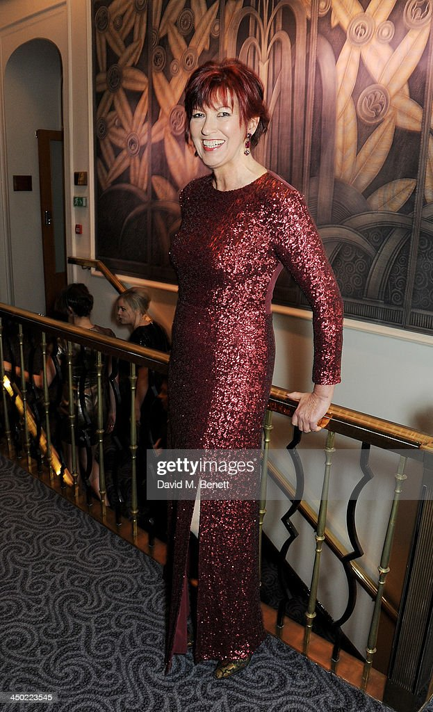 Janet Street Porter attends a drinks reception at the 59th London Evening Standard Theatre Awards at The Savoy Hotel on November 17, 2013 in London, England.