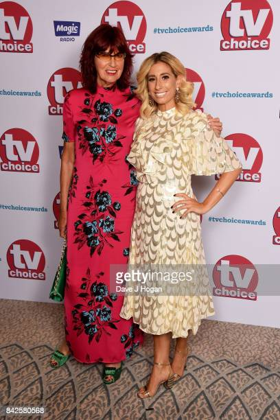 Janet StreetPorter and Stacey Solomon arrive at the TV Choice Awards at The Dorchester on September 4 2017 in London England