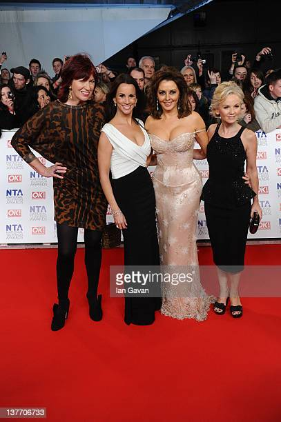 Janet StreetPorter Andrea McLean Carol Vorderman and Lisa Maxwell attend the National Television Awards 2012 at the 02 Arena on January 25 2012 in...
