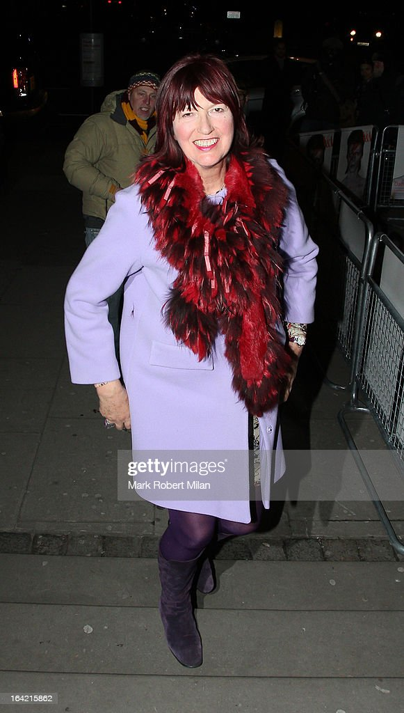 Janet Street-Porter at the private view of 'David Bowie Is' at Victoria & Albert Museum on March 20, 2013 in London, England.