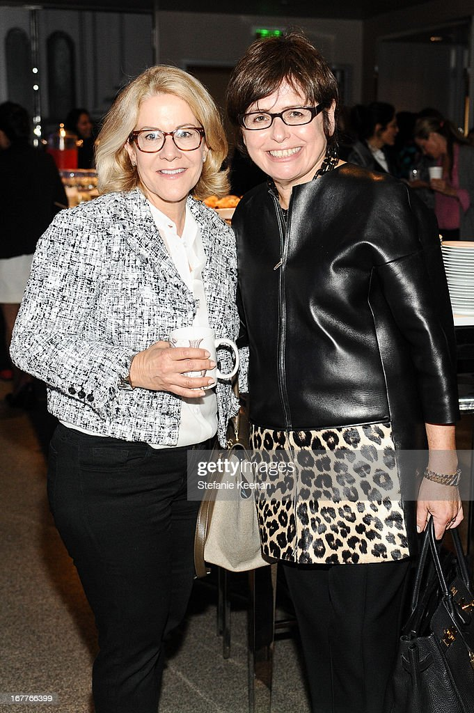 Janet Suber and Susan Weiss-Fischmann attend Women A.R.E. Salon Event Featuring Home Shopping Network's CEO Mindy Grossman at SLS Hotel on April 29, 2013 in Beverly Hills, California.