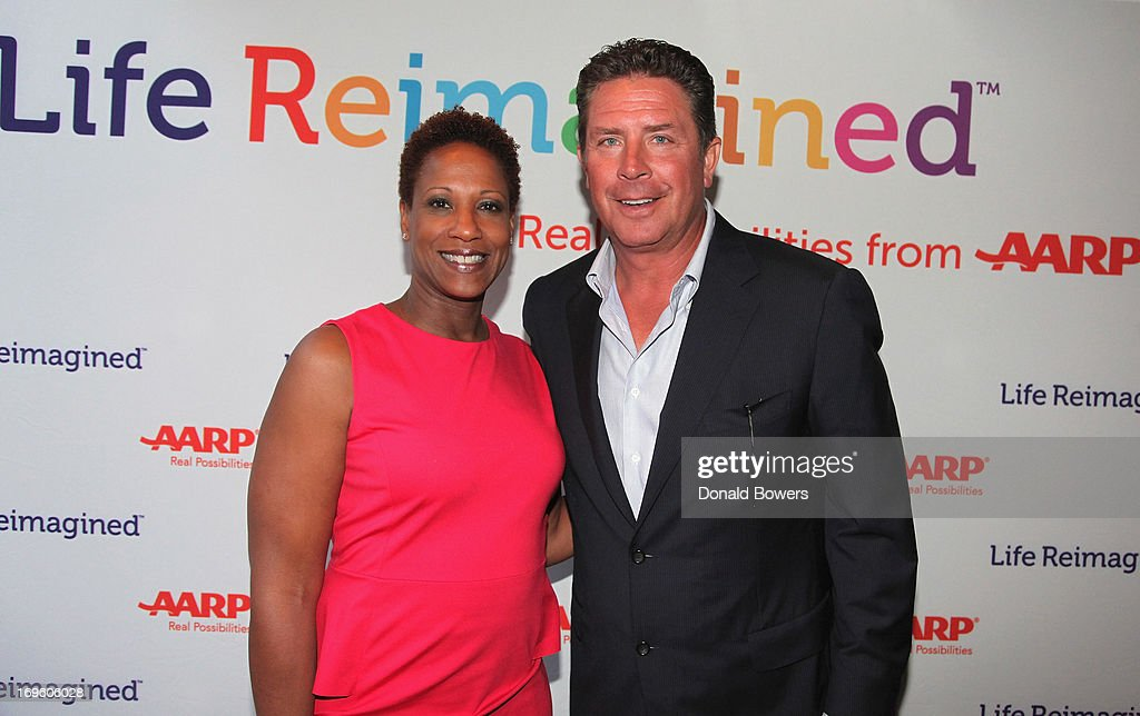 Janet Taylor and Dan Marino attend The Launch of AARP's 'Life Reimagined' hosted by Emilio Estefan and Dan Marino at La Bottega Trattoria at The Maritime Hotel on May 28, 2013 in New York City.