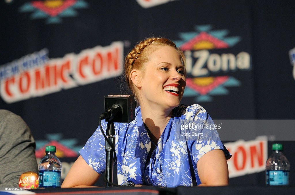 Janet Varney attends the Korra panel at the 2013 New York Comic Con at Javits Ceter on October 12, 2013 in New York City.