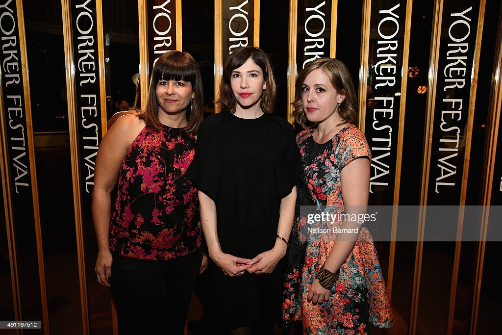"Janet Weiss Carrie Brownstein and Corin Tucker of the band SleaterKinney attend the 2015 New Yorker Festival ""Wrap Party"" hosted by David Remnick at..."