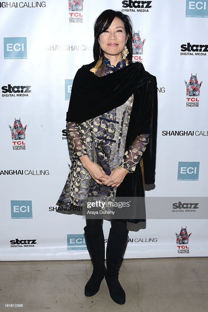 Janet Yang attends the 'Shanghai Calling' Los Angeles premiere at TCL Chinese Theatre on February 12, 2013 in Hollywood, California.