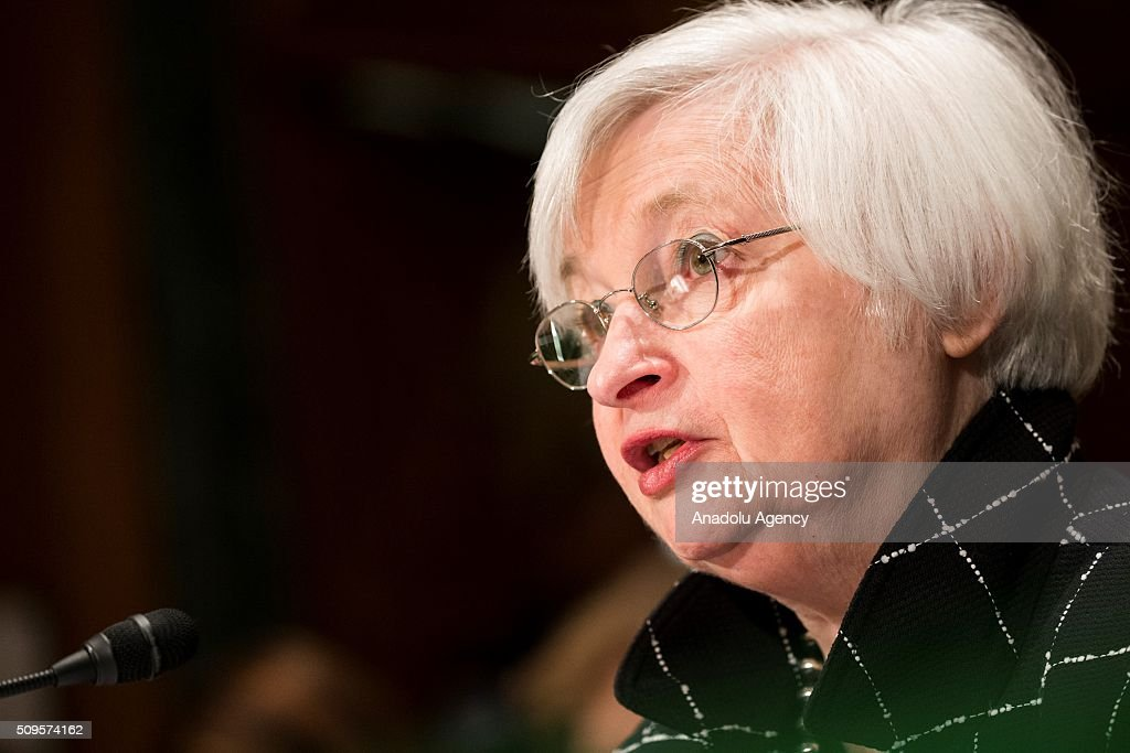 Janet Yellen, Chair of the Federal Reserve Board of Governors, testifies during a Senate Banking Committee hearing on the semiannual monetary report to Congress in Washington, USA on February 11, 2016.