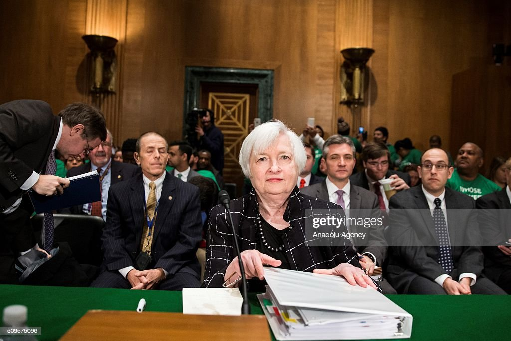 Janet Yellen, Chair of the Federal Reserve Board of Governors, takes her seat before a Senate Banking Committee hearing on the semiannual monetary report to Congress in Washington, USA on February 11, 2016.