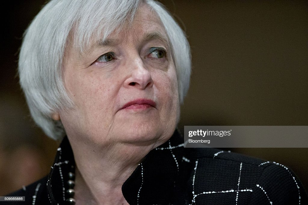 <a gi-track='captionPersonalityLinkClicked' href=/galleries/search?phrase=Janet+Yellen&family=editorial&specificpeople=2731344 ng-click='$event.stopPropagation()'>Janet Yellen</a>, chair of the U.S. Federal Reserve, listens during a Senate Banking Committee hearing in Washington, D.C., U.S., on Thursday, Feb. 11, 2016. Yellen said yesterday the Federal Reserve still expects to raise interest rates gradually while making it clear that continued market turmoil could throw the central bank off course from the multiple increases that policy makers have forecast for 2016. Photographer: Andrew Harrer/Bloomberg via Getty Images