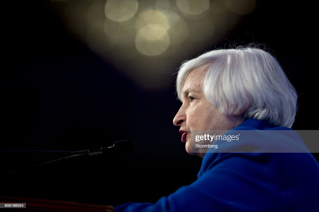 Fed Chair Janet Yellen Speaks At The National Community Reinvestment Coalition Annual Conference : News Photo
