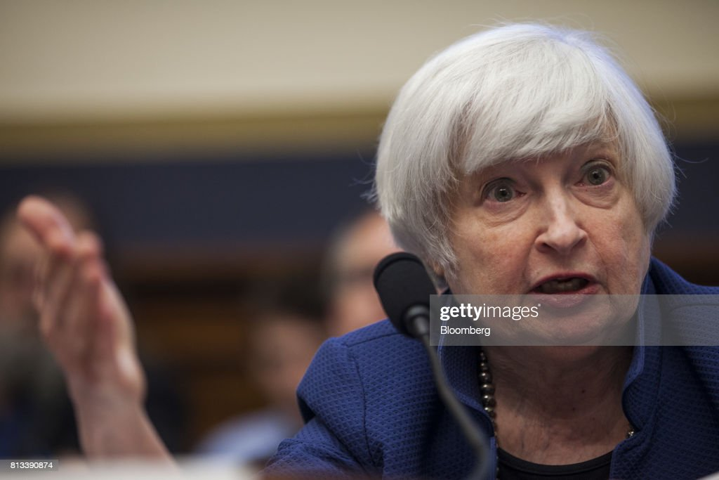 Fed Chair Janet Yellen Testifies Before House Financial Services Committee : News Photo