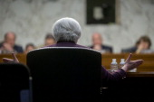 Janet Yellen chair of the US Federal Reserve speaks during a Joint Economic Committee hearing in Washington DC US on Wednesday May 7 2014 The Federal...